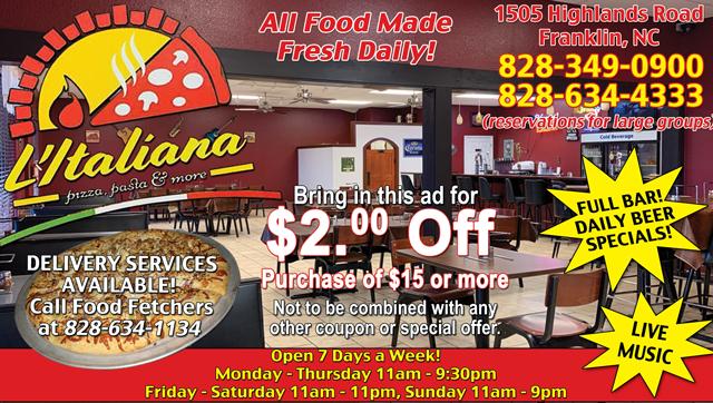 LItaliana_Restaurant_Franklin_North_Carolina_ad